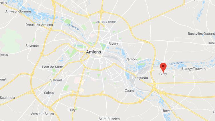 Le corps a été retrouvé à Glisy, près d'Amiens (Somme). (GOOGLE MAPS)