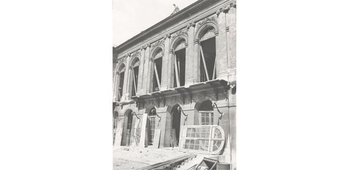 Façade du Palais Rose lors de sa démolition en 1969  (DR)
