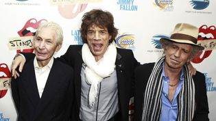 Charlie Watts, Mick Jagger et Keith Richards, des Rolling Stones, à New York (Etats-Unis), en 2010. (REUTERS / LUCAS JACKSON)