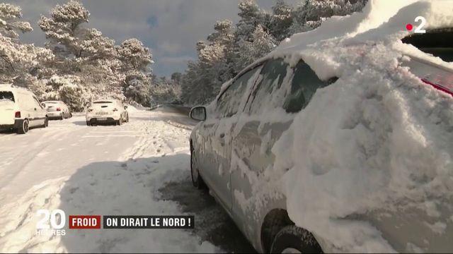 Froid : le sud de la France recouvert de neige