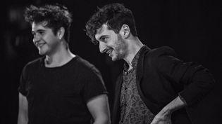 Thomas Jolly (Atrée) et Damien Avice (Thyeste) en répétition  (Jean-Louis Fernandez)