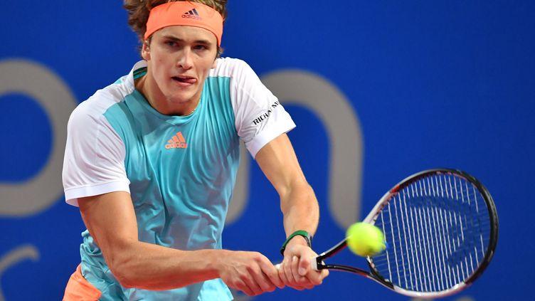 A 19 ans seulement, Zverev remporte à Montpellier son deuxième tournoi en carrière.  (PASCAL GUYOT / AFP)