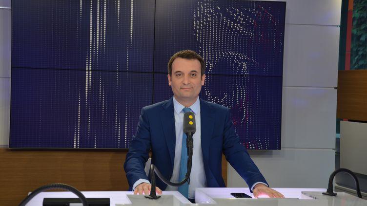 Florian Philippot, président du mouvement Les Patriotes. (JEAN-CHRISTOPHE BOURDILLAT / RADIO FRANCE)