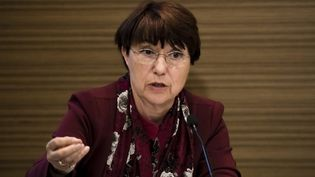 Catherine Arenou, maire de Chanteloup-les-Vignes (Yvelines) et première vice-présidente de l'Association des maires Ville et banlieue, le 1er mai 2018. (VINCENT ISORE / MAXPPP)