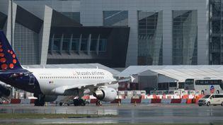 L'aéroport de Bruxelles-National (Belgique), le 29 mars 2016. (BENOIT DOPPAGNE / BELGA MAG / AFP)