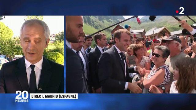 Emmanuel Macron en Espagne en pleine affaire Benalla
