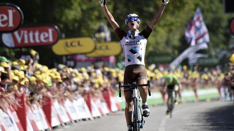 Nouvelle victoire pour Alexis Vuillermoz.  (ERIC FEFERBERG / AFP)