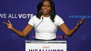 Michelle Obama, lors d'un meeting, à Las Vegas (Nevada, Etats-Unis), le 23 septembre 2018. (Ethan Miller / GETTY IMAGES NORTH AMERICA / AFP)