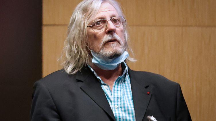 Didier Raoult, directeur de l'IHU de Marseille, lors de son audition devant la commission d'enquête de l'Assemblée sur le Covid-19, le 24 juin 2020. (THOMAS COEX / AFP)