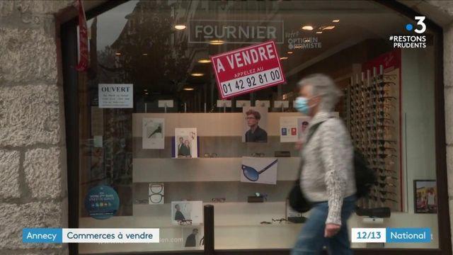 Annecy : les commerçants manifestent leur colère face à la fermeture des boutiques