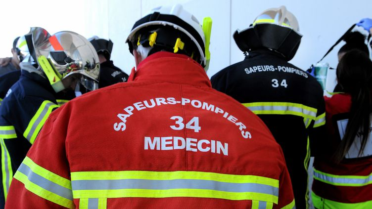 Les pompiers de l'Hérault, la SDIS 34 (2017). (VINCENT PEREIRA / MAXPPP)