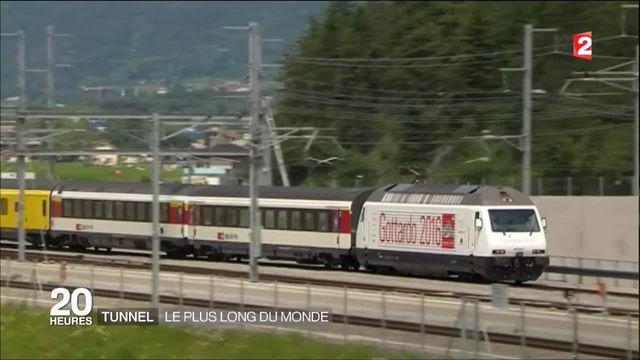 La Suisse inaugure le plus long tunnel ferroviaire du monde