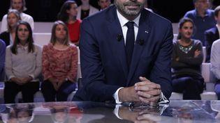 """Edouard Philippe, le 27 septembre 2018, sur le plateau de """"L'Emission politique"""" deFrance 2. (GEOFFROY VAN DER HASSELT / AFP)"""