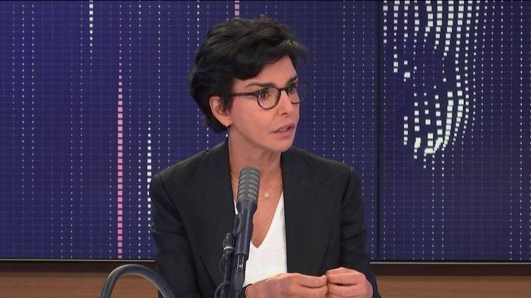 """Rachida Dati,candidate Les Républicains à la mairie de Paris était l'invitée du """"8h30 franceinfo"""", vendredi 26 juin 2020. (FRANCEINFO / RADIOFRANCE)"""