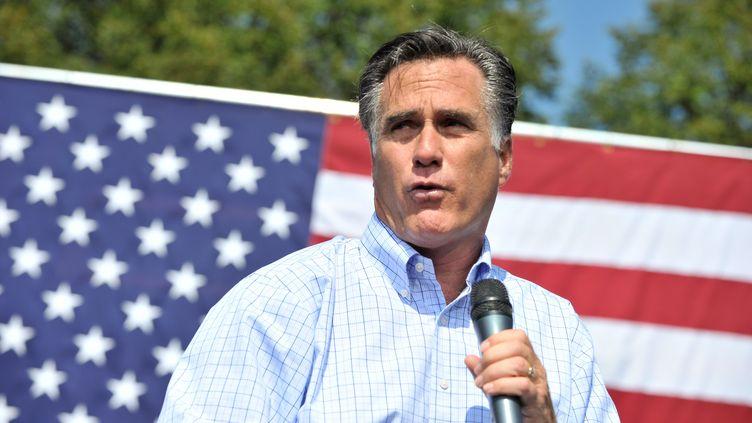 Le candidat républicain Mitt Romney lors d'un meeting à Fairfax (Virginie, Etats-Unis), le 13 septembre 2012. (NICHOLAS KAMM / AFP)