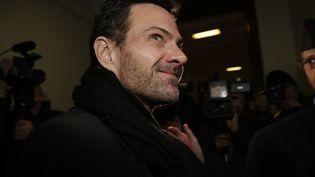 Jérôme Kerviel arriveau tribunal, à Paris, le 21 mars 2016. (KENZO TRIBOUILLARD / AFP)