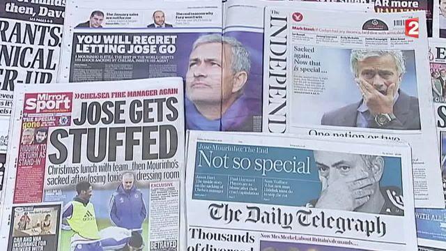 La presse britanique s'amuse du limogeage de Jose Mourinho