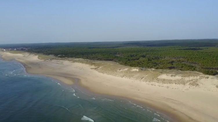 Entre la Gironde et les Landes, la Côte d'Argent abrite la plage la plus longue d'Europe. (FRANCE 2)