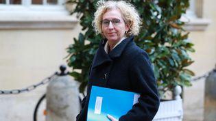 La ministre du Travail, Muriel Pénicaud, le 26 février 2020 à l'Elysée. (LUDOVIC MARIN / AFP)