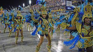 Le carnaval de Rio de Janeiro (Brésil), le 24 février 2020. (CARL DE SOUZA / AFP)