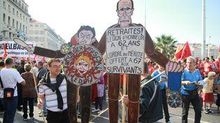 Manifestation à Marseille (Bouches-du-Rhône) contre la réforme des retraites, le 23 septembre 2010. (AFP)