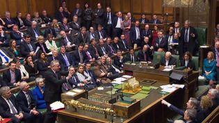 Les députés britanniques en plein vote dans la Chambre des communes à Londres, le 16 janvier 2019. (HO / AFP)