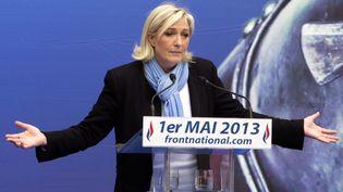La présidente du FN, Marine Le Pen, le 1er mai 2013 à Paris. (JOEL SAGET / AFP)