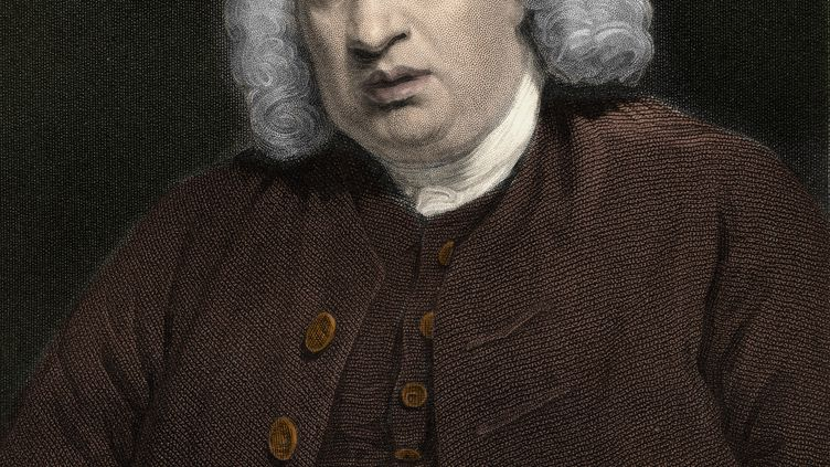 Samuel Johnson, écrivain anglais. (LEEMAGE)
