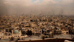 Une vue générale d'Alep (Syrie), le 7 décembre 2016. (GEORGE OURFALIAN / AFP)