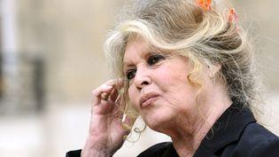 Brigitte Bardot, le 27 septembre 2007 au palais de l'Elysée, à Paris. (ERIC FEFERBERG / AFP)