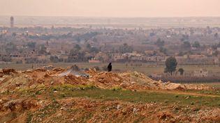 Lesenvirons de Baghouz (Syrie), le 14 février 2019. (DELIL SOULEIMAN / AFP)