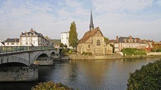 La ville de Sens dans l'Yonne, photographiée le 15 novembre 2015. (MAXPPP)
