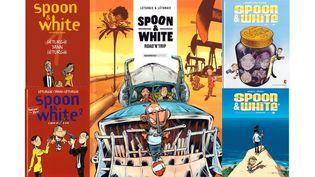 SPOON ET WHITE CHANGENT D'EDITEURS MAIS NE S'ARRANGENT PAS (SIMON LETURGIE, DUPUIS / SIMON LETURGIE, DUPUIS / SIMON LETURGIE, BAMBOO / SIMON LETURGIE, VENTS D'OUEST / SIMON LETURGIE, VENTS D'OUEST)
