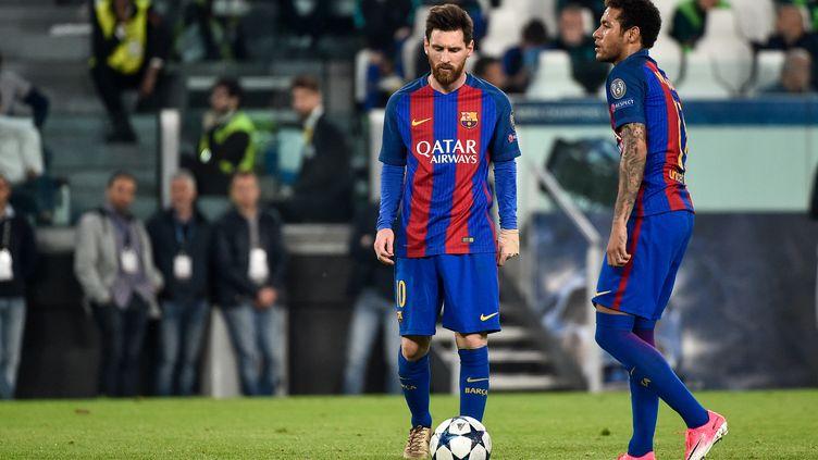 Lionel Messi et Neymar, les joueurs du FC Barcelone (GIUSEPPE MAFFIA / NURPHOTO)