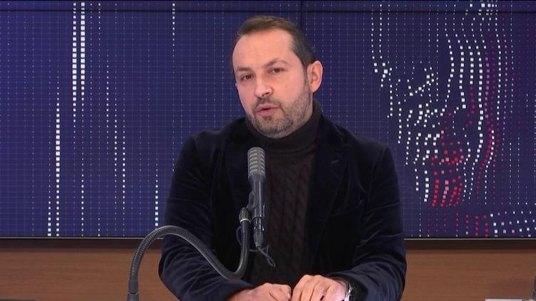 Sébastien Chenu, porte-parole du Rassemblement national, député du Nord sur franceinfo le 19 décembre 2020. (FRANCEINFO / RADIOFRANCE)