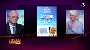 """Médecine prédictive, transhumanisme... jusqu'où peut-on allonger la vie ? Les réponses du Dr Christophe de Jaeger dans """"Avenue de l'Europe"""" (FRANCE 3 / FRANCETV INFO)"""