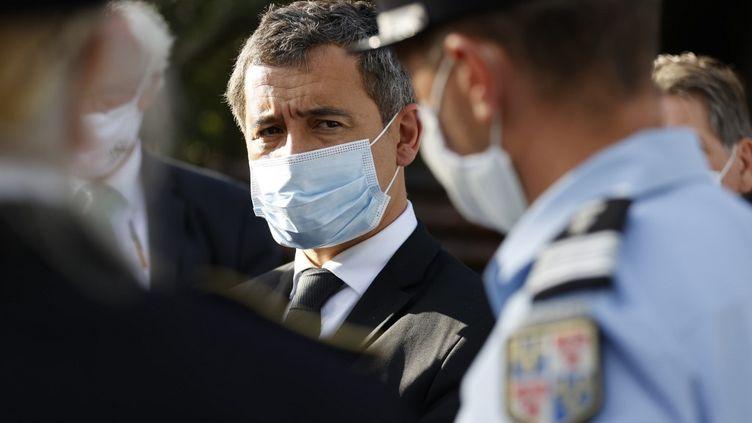 Le ministre de l'Intérieur, Gérald Darmanin, à Plailly (Oise), le 7 septembre 2020. (THOMAS SAMSON / AFP)