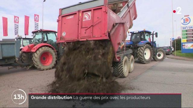 Grande distribution : les producteurs se mobilisent contre la baisse de leur rémunération