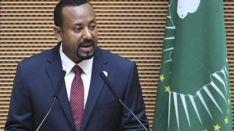 LePremier ministreéthiopien,Abiy Ahmed, dans la capitale Addis-Adeba, le 17 novembre 2018. (MONIRUL BHUIYAN / AFP)