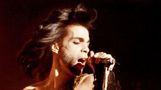 Prince Roger Nelson en 1990 à Minneapolis.  (David Brewster / Minneapolis Star Tribune via Zuma Wire / MaxPPP)