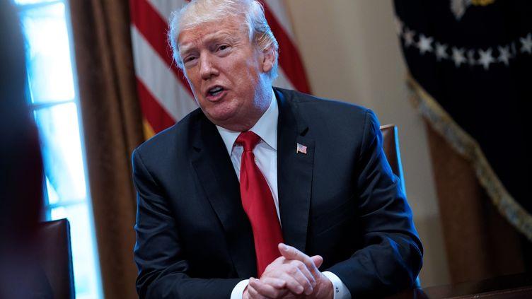 Donald Trump, le 1er mars 2018, à la Maison Blanche, à Washington. (MANDEL NGAN / AFP)