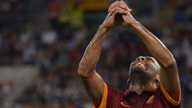 Maicon savoure le nouveau succès de la Roma (TIZIANA FABI / AFP)