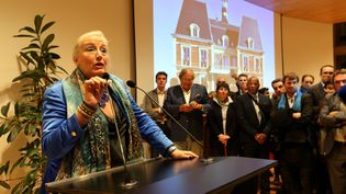 Brigitte Marsigny,maire de Noisy-le-Grand (Seine-Saint-Denis), le 20 septembre 2015. (JEAN-BAPTISTE QUENTIN / MAXPPP)