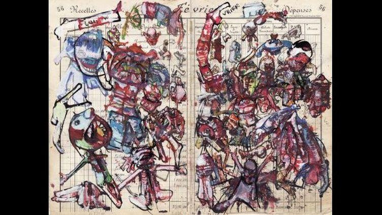 Sans Titre, 2009 Gouache et encre de Chine sur papier  (Diotime, petite-fille de Dado)