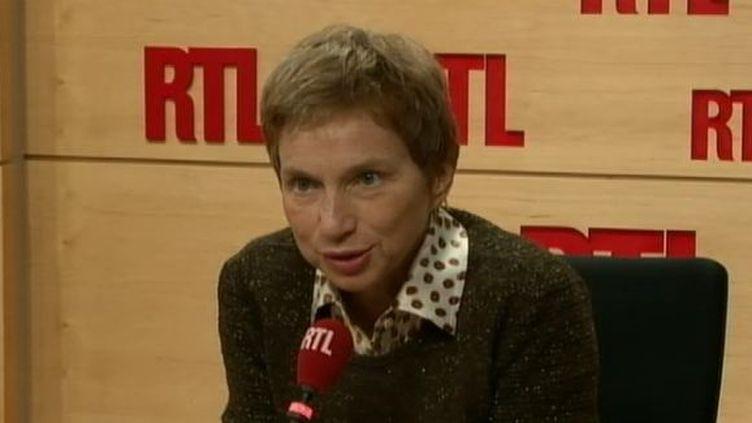 La présidente du Medef, Laurence Parisot,mercredi 16 novembre 2011 sur RTL. (FTVi / RTL)