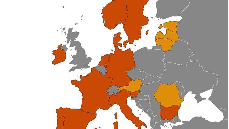 Une quinzaine de pays, dont l'Allemagne, la France et l'Italie, ont suspendu par précaution l'utilisation du vaccin AstraZeneca contre le Covid-19, lundi 15 mars. (FRANCEINFO)