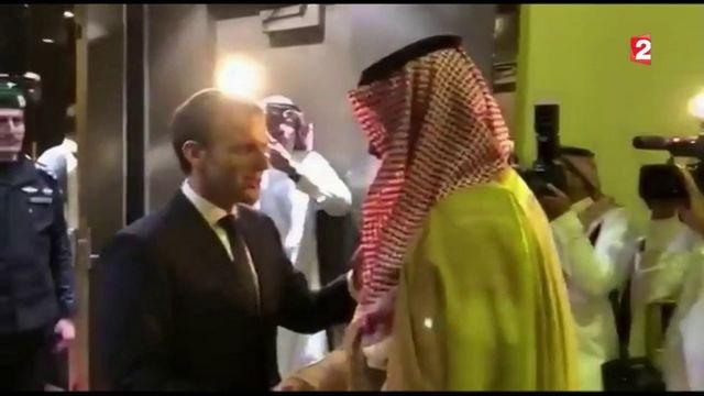 Emmanuel Macron en visite surprise à Riyad