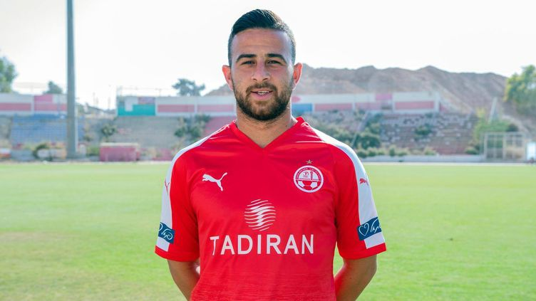 Diaa Sabia, premier joueur israélien à évoluer dans un championnat arabe (ici sous les couleurs de l'Hapoel Beer-Shiva)