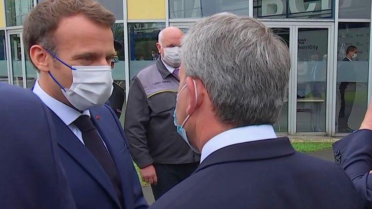 Douai : Emmanuel Macron se rend sur les terres de Xavier Bertrand (France 3)
