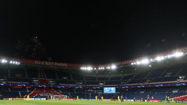 Le match PSG-Dortmund (2-0) s'est joué à huit-clos au Parc des Princes à Paris, mercredi 11 mars 2020, en raison de l'épidémie de coronavirus. (- / GETTY/UEFA)